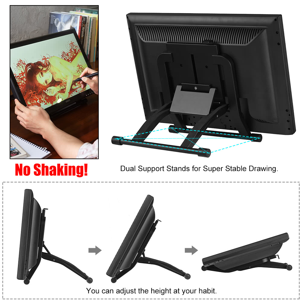 Ugee 1910B 19 Inch Graphics Drawing Pen Tablet IPS Screen Monitor Display